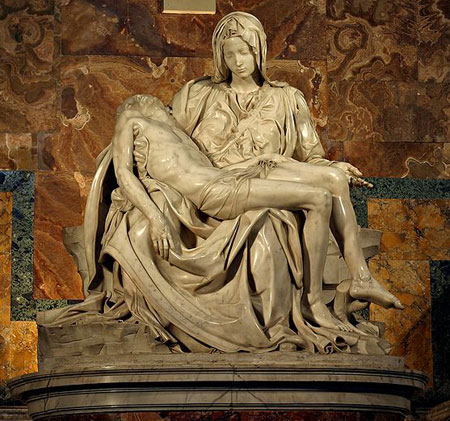 Michelangelos Pieta The Magnificent Depiction Of Mother Mary Holding Her Crucified Son Jesus Christ Beauty Elegance Restrained Yet Intense Emotion