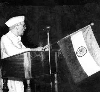 Nehru's Trust with destiny speech, 1947
