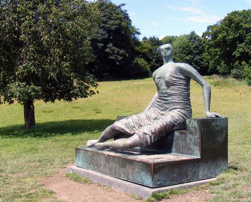 Reclining Figure at Yorkshire sculptor park.