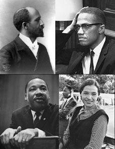 The significant events and persons in the civil rights movement