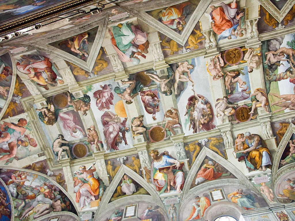 The Sistine Chapel which took Michelangelo four years to pain.