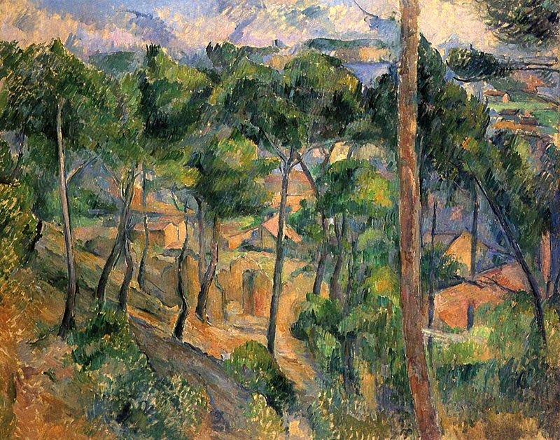 Cézanne, 1882-1883: 'L'Estaque, a View through the Trees',