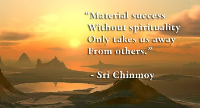 spirituality vs materialism biography online